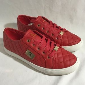 G by Guess Backer2 LaceUp Leather Quilted Sneakers